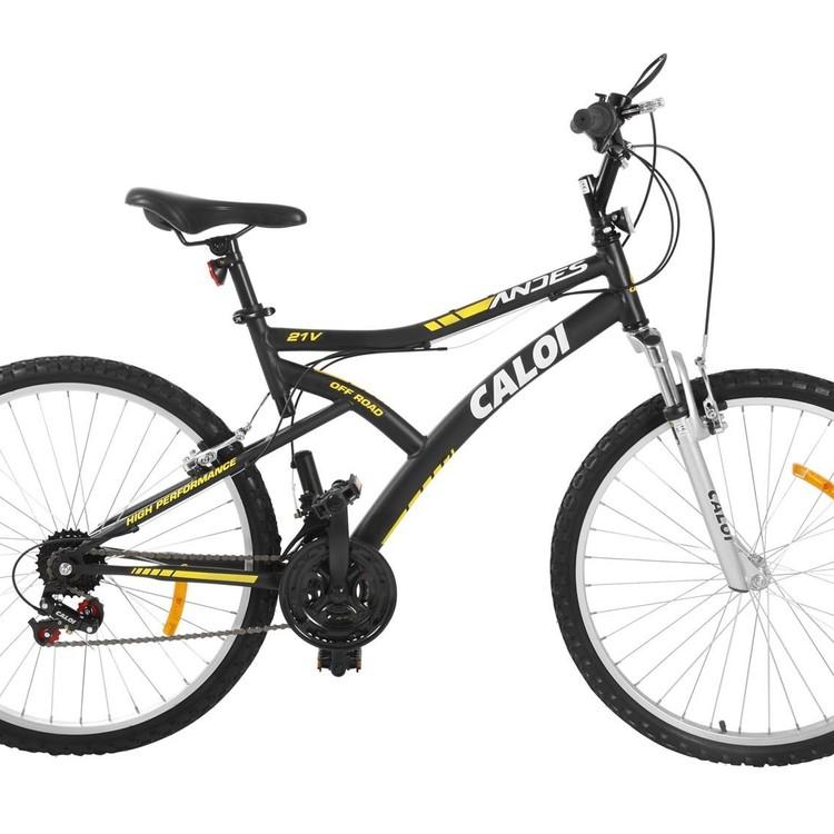 Thumb bicicleta caloi andes mountain bike aro 2621 marchas suspensao frontal freio v brake 182313029