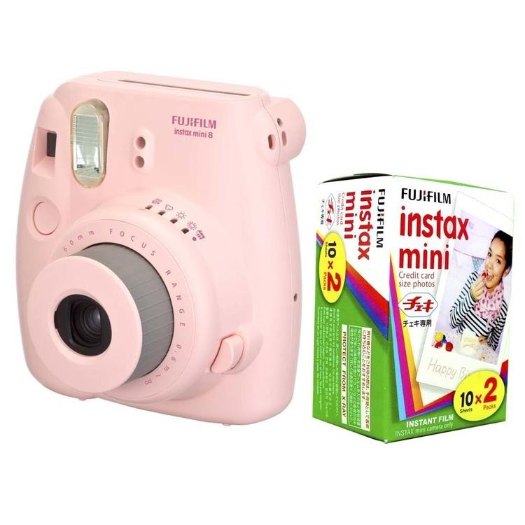 Thumb camera instantanea fujifilm instax mini 8 rosa filme instantaneo fujifilm instax pack com 20 unidades 1000046905