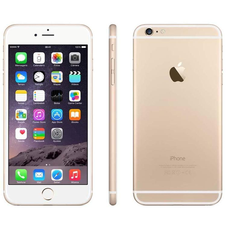 Thumb iphone 6 plus apple com 16gb tela 55 ios 8 touch id camera isight 8mp wi fi 3g 4g gps mp3 bluetooth e nfc  e2 80 93 dourado 3885530