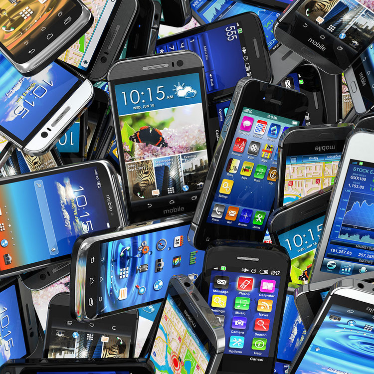 Thumb mobile smartphones pile ss 1920