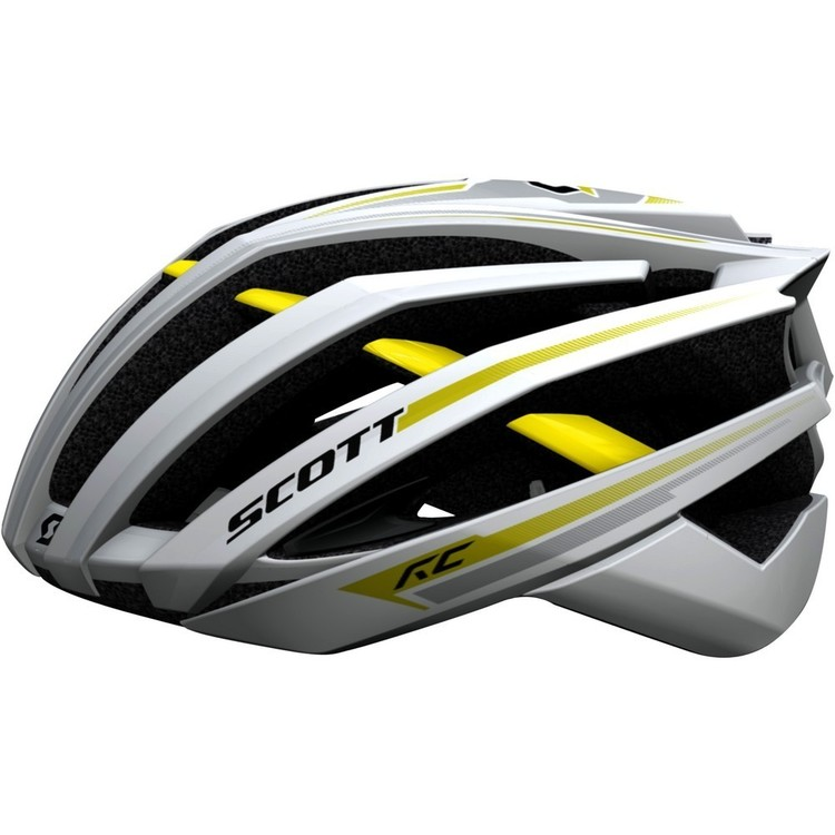 Thumb capacete de ciclismo speed scott vanish evo road 2013 branco amarelo 2502