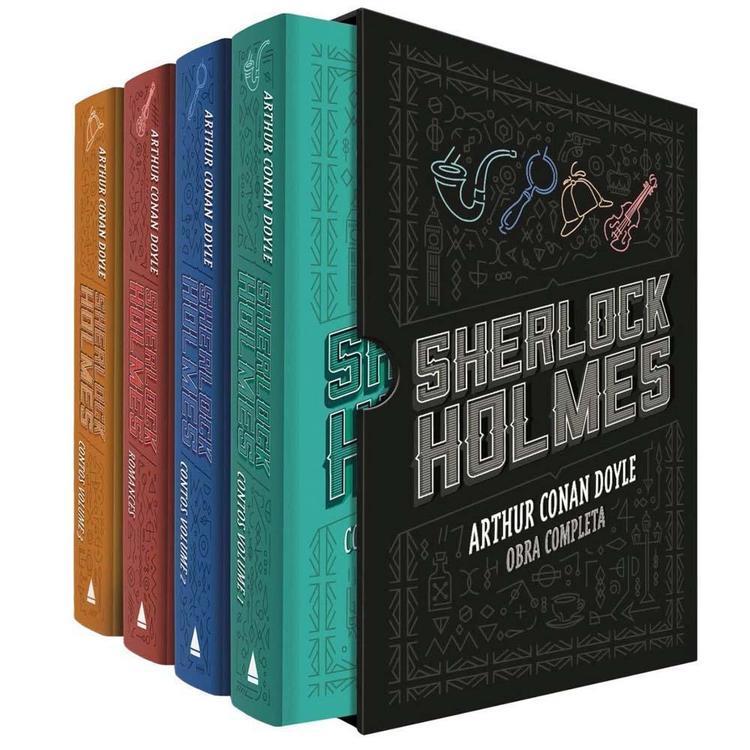 Thumb livro  e2 80 93 box sherlock holmes obra completa 4 volumes arthur conan doyle 4444451