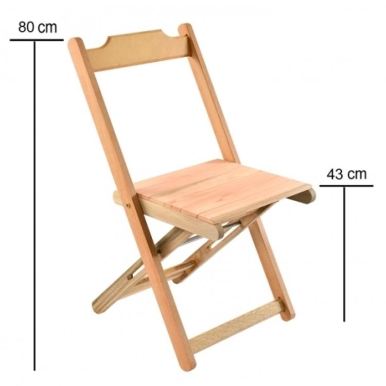 Thumb cadeira dobravel de madeira sem verniz