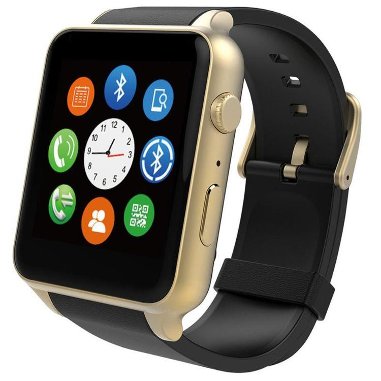 Thumb smart watch   preto e dourado   m de banana gt88 cartao de telefone do relogio bluetooth black watch ouro 7863594